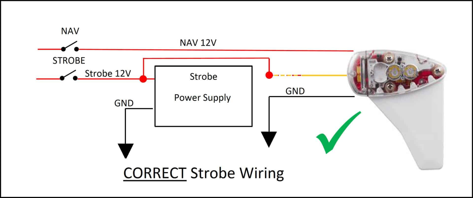 Strobe Wiring Diagram - uAvionix